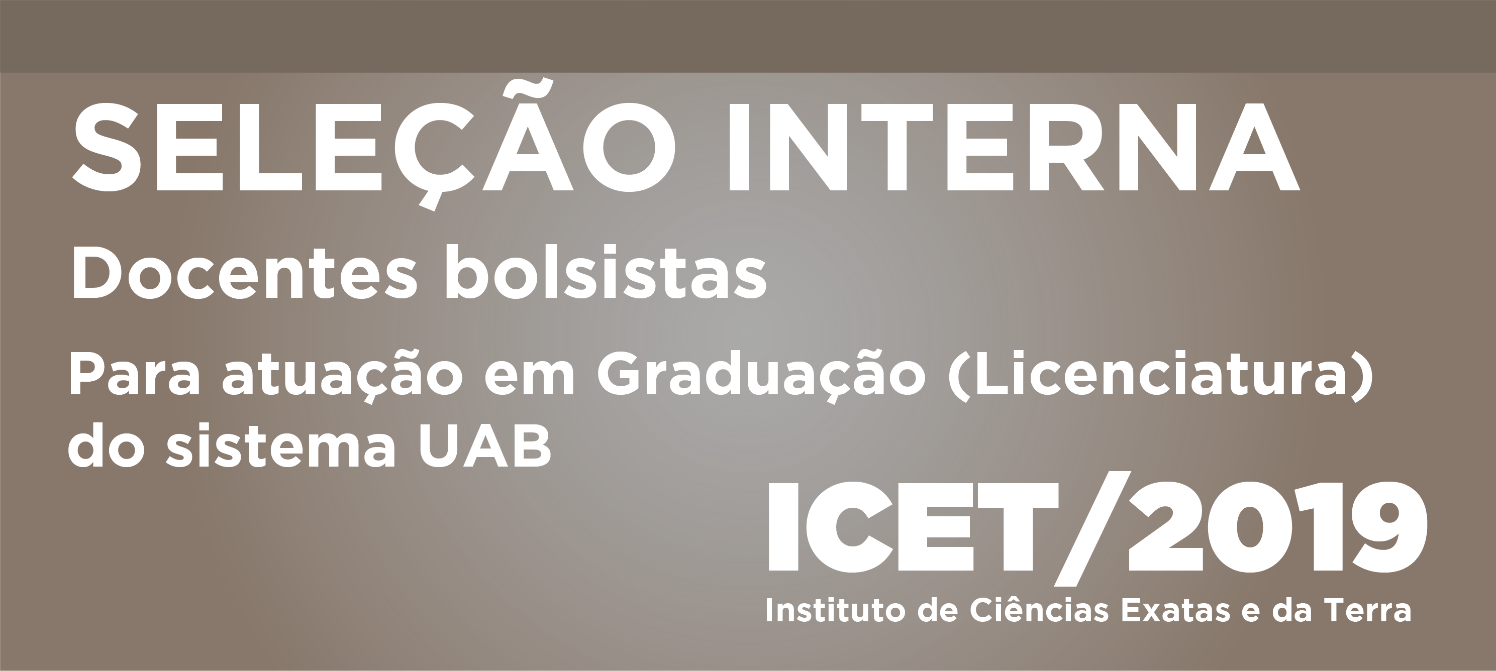 Processo Seletivo Docentes ICET/2019